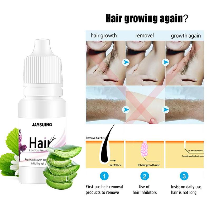 Painless Hair Removal Stop Hair Growth Inhibitor Shrink Pores Skin Smooth Repair Essence
