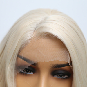 Image 5 - כריזמה קצר פאה עמיד בחום גלי שיער פאות סינטטי תחרה מול פאת צד חלק Glueless פאות עבור נשים משלוח חינם