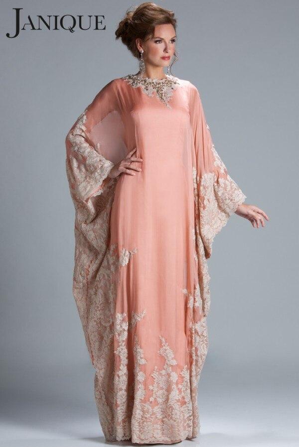 Elegant Long Sleeve Dubai Kaftan Muslim Evening Prom Gown Robe De Soiree Long Abendkleider 2018 Mother Of The Bride Dresses