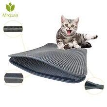 Водонепроницаемый коврик для кошачьего туалета EVA двухслойный кошачий наполнитель для кошачьего туалета, кошачий коврик, чистящий коврик, товары для Аксессуары для кошек