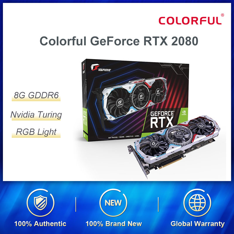 Colorful GeForce RTX 2080 AD Graphic Card Special OC GPU GDDR6 8G iGame Video Card Nvidia One-key Overclock RGB Light 1