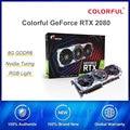 Цветная видеокарта GeForce RTX 2080 AD графические карты специальное OC GPU GDDR6 8G iGame видеокарта Nvidia с помощью одной кнопки разогнать RGB светодиодный св...