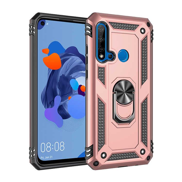 Conelz per Huawei P20 Lite Copertura Della Cassa Hybrid Antiurto Armatura Defender Caso Della Copertura Posteriore w/'Anello di Barretta Grip