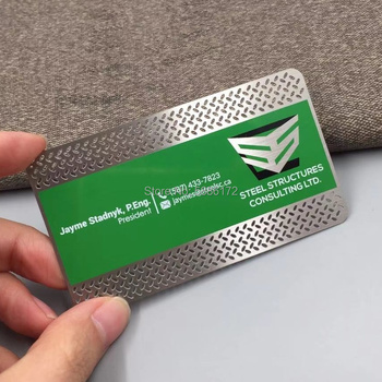 88.9*50.8*0.3mm 100pcs/lot custom metal membership cards with stainless steel metal material new arrival etching and cutting through stainless steel metal material metal etched business cards