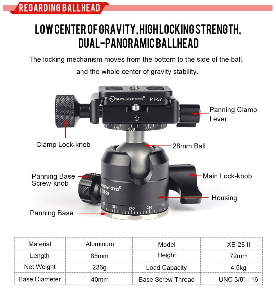 SUNWAYFOTO T1C30N светильник маленький мини карбоновый Dslr штатив для камеры Профессиональный карбоновый штатив для телефона Аксессуары для камеры видео