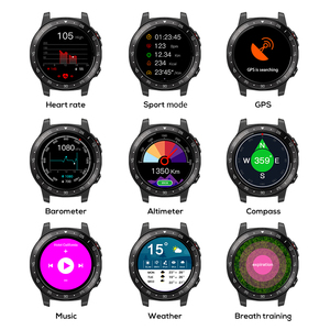 Image 2 - Northedge GPS Smart Watch Running Sport GPS Watch Bluetooth Phone Call Smartphone Waterproof Heart Rate Compass Altitude Clock