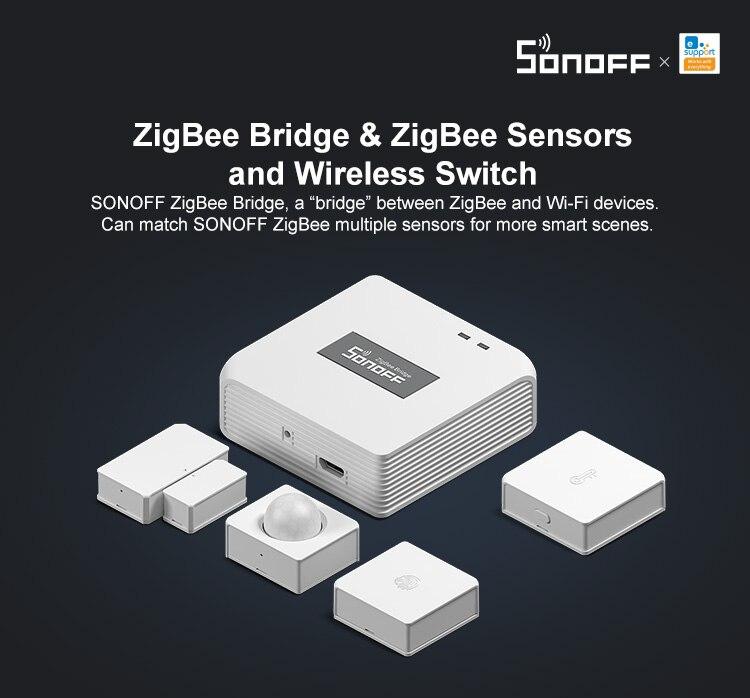 H31eccc22ab86488b87bccab3f09b331bJ - SONOFF ZigBee Bridge Wireless Door/Window Sensor Alert Notification Via EWeLink APP Control Smart Home Security Switch