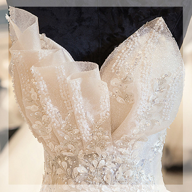 New Arrivals Shiny Gorgeous Ball Gown Wedding Dresses With Beading Crystal Flowers Casamento 5
