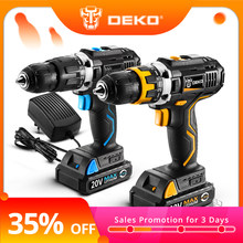 DEKO GCD20DU Series Electric Screwdriver Cordless Drill Impact Drill Power Driver 20V Max DC Lithium-Ion Battery 13mm 2-Speed(China)