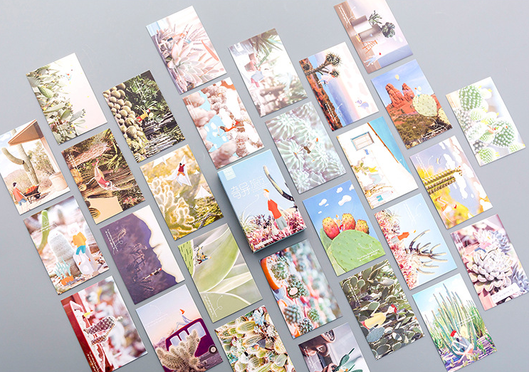 52mm*80mm Wild Travel Paper Lomo Cards(1pack=28pieces)
