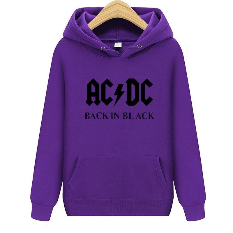 2020 New 24 Designs Sweatshirt ACDC AC/DC Australian Hard Rock Hoodies Punk Sudadera Streetwear Fleece Shell Jacket Outerwear