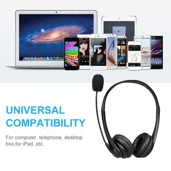 Call Center Wired Headset With Microphone Telephone Operator Headphone Noise Canceling for Computer Phones Desktop Boxes 4
