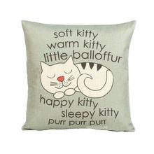 Милый Кот печати дома сиденье для декоративных подушек крышка