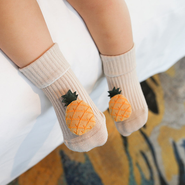 Cotton Baby Socks Cartoon Fruit Newborn Socks Anti Slip Floor Socks Autumn Winter Socks for Children Baby Boy Girl Infant Socks 5