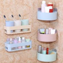 Bathroom Shelving Wall Corner Storage Rack Organizer Shower Shampoo Holder Toilet Suction Cup Storage Rack Bathroom Accessories(China)