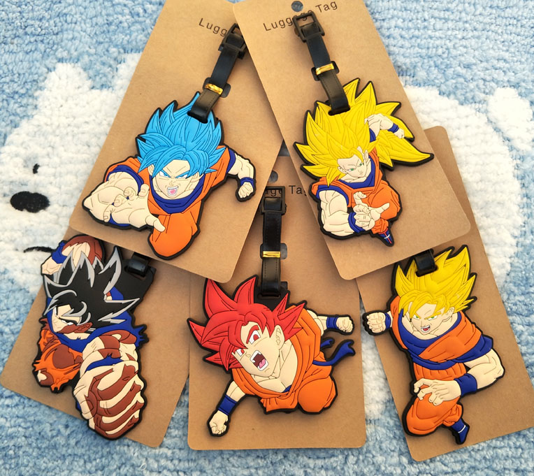1pcs Dragon Ball Anime Travel Brand Luggage Tag Suitcase ID Address Portable Tags Holder Baggage Label New