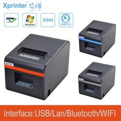 Nowa dostawa 80mm automatyczna gilotyna termiczna drukarka paragonów drukarka POS z usb/Ethernet/bluetoot dla hotelu/kuchni/restauracji w Drukarki od Komputer i biuro na