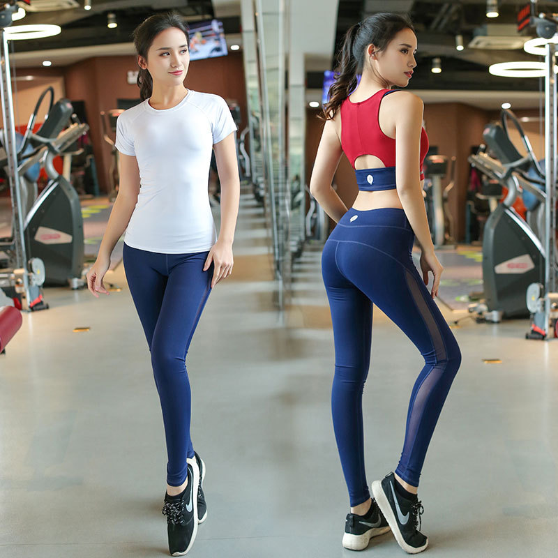 New Style Spring And Summer Yoga Sportswear WOMEN'S Suit Gym Running Short Sleeve Air Yoga Pants Factory Wholesale
