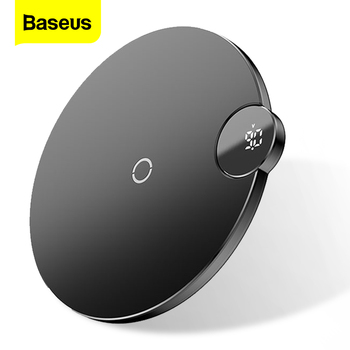 Baseus LED Display Qi Wireless Charger For iPhone 11 Pro Max Xr X 10W