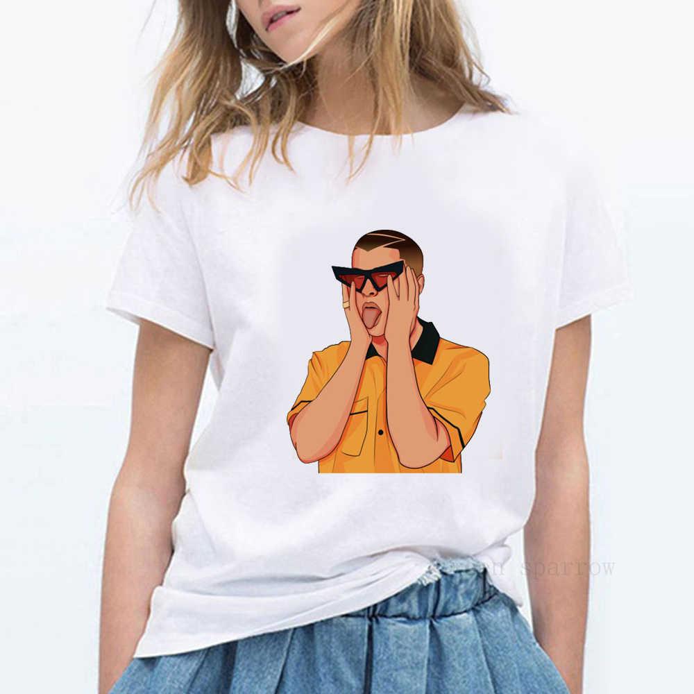 ヨーヨー perreo ソラ悪いバニー tシャツ悪いバニー badbunny · マロ el · マロ conejomalo reggaeton perreo 白人女性の tシャツ