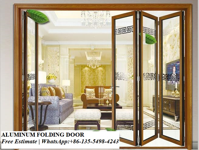 Decorative Grill Design Aluminium Glass Folding Doors Exterior,aluminum Fiberglass Soundproof Bi Fold Interior Door