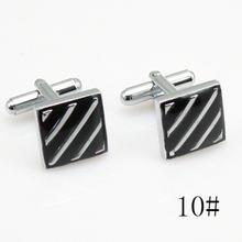 1 шт квадратные или круглые высококачественные серебряные запонки