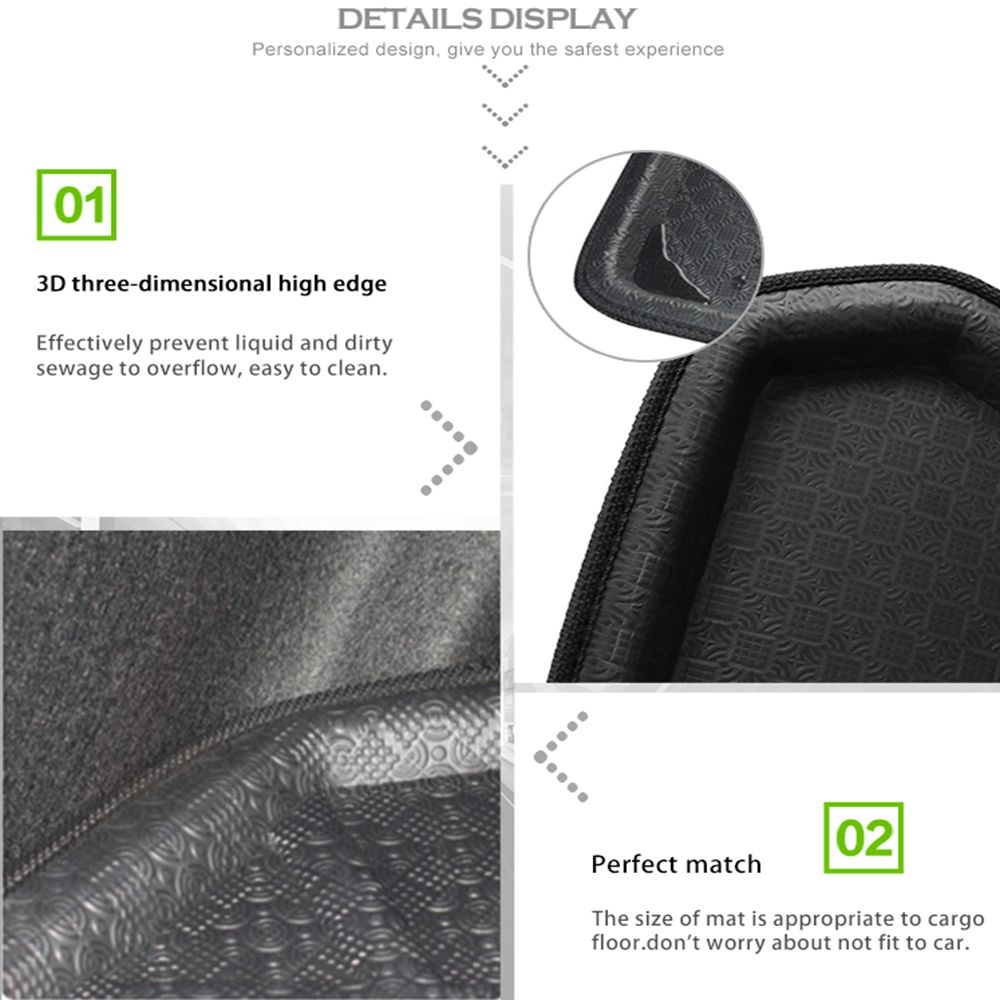 Image 4 - UXCELL PE+EVA foam plastic Rear Trunk Boot Liner Cargo Mat Floor Tray Carpet for  VW Jetta Sedan Tiguan Golf 6 7 MK7 Polo 09 17