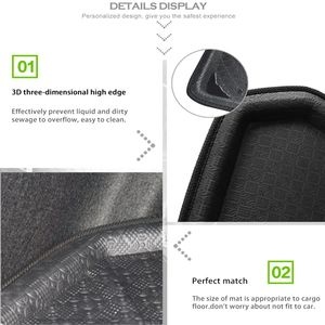 Image 4 - UXCELL PE+EVA foam plastic Rear Trunk Boot Liner Cargo Mat Floor Tray Carpet for  VW Jetta Sedan Tiguan Golf 6 7 MK7 Polo 09 17