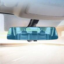 Espelho retrovisor sem moldura anti dazzle alta definição curvado espelho azul 2.5d tela 3000r