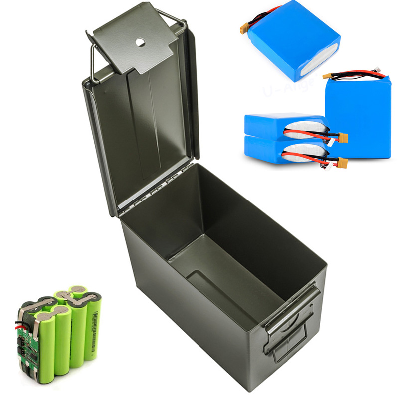 30 Cal Metal Ammo Can Military & Army Style Steel Box Stackable Gun Ammo Case Storage Holder Box Heavy Duty Tactical Bullet Box