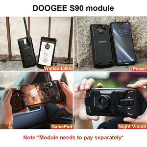 Image 3 - IP68/IP69K DOOGEE S90 Modular Rugged Mobile Phone 6.18inch Display 5050mAh Helio P60 Octa Core 6GB 128GB Android 8.1 16.0M Cam