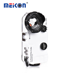 60M Waterproof Phone Case For 6/7/8 Plus /XS Max Bluetooth Control Underwater Mobile Phone Housing 1pc