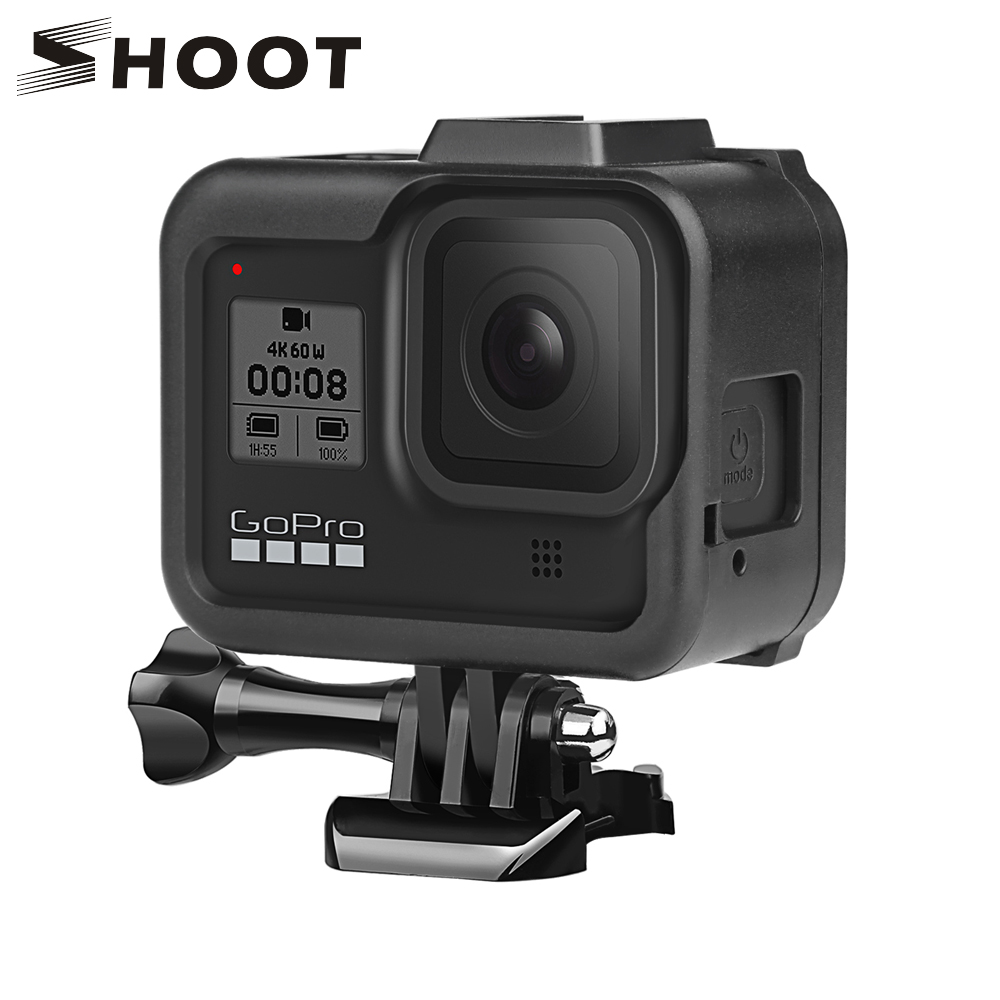SHOOT Protective Border Frame Case For Gopro Hero 8 Black Cover Housing Mount For Go Pro Hero 8 Go Pro 8 Action Camera Accessory
