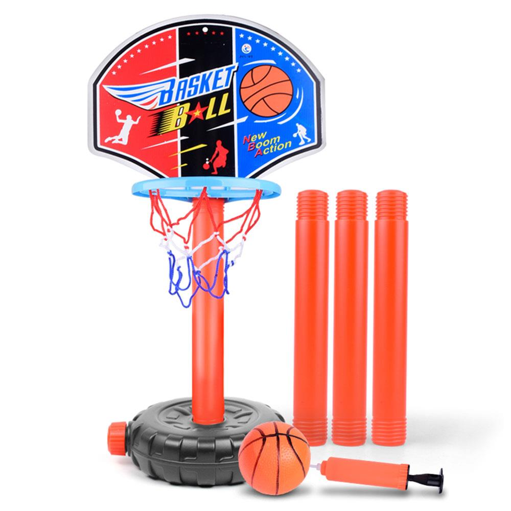 Adjustable Height Basketball Stand Inflatable Toys Portable Kids Children Basket Ball Toys Basket Rack Indoor Outdoor Games Toy