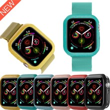 Compatible with Apple Watch 40 44mm Case Soft tpu Protect Cover for iWatch 4 5 3 2 protective 38 42mm watch accessories Bumper camouflage watch case for apple watch 3 2 1 soft tpu shell for iwatch 38 42mm bumper protective cover frame watches accessories