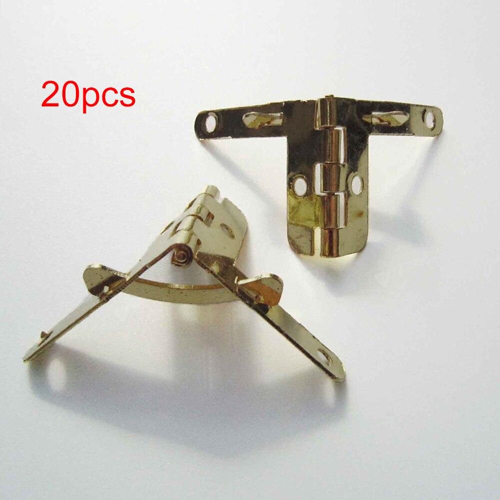 Pair Mini Metal Hinges Jewellery Box Dolls House Decorative Hinges With Screws