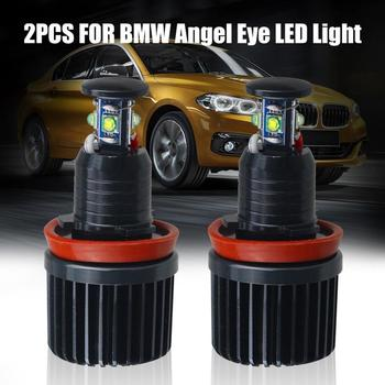 2x 40W H8 CREE LED Angel Eyes Halo Light Bulbs 6000K White for BMW E90 E91 E92 E60 E61 4pcs LED chips each lamp Car Accessories image