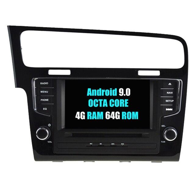 RoverOne Car Multimedia Player For VW Golf 7 MK7 VII 2014-2018 Android 9.0 Octa Core 4G+64G Radio DVD MIB Autoradio Bluetooth