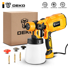 DEKO  Electric Handheld Spray Gun, 3 Nozzle Sizes,HVLP Spay Gun,For Painting Wood ,Furniture, Wall,Easy Spraying by DKSG55K1