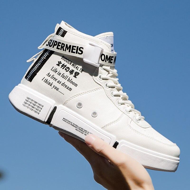Mode Pop printemps automne décontracté chaussures plates hommes chaussures de marche toile anti-dérapant baskets haut Botas respirant Masculinas