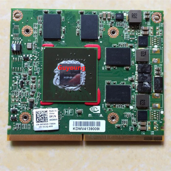 Quadro 1000M Q1000M N12P-Q1-A1 2GB Graphic Card For LAPTOP Dell M4600 M4700 HP 8540W 8560W 8570W 8770W Display Card Video Card