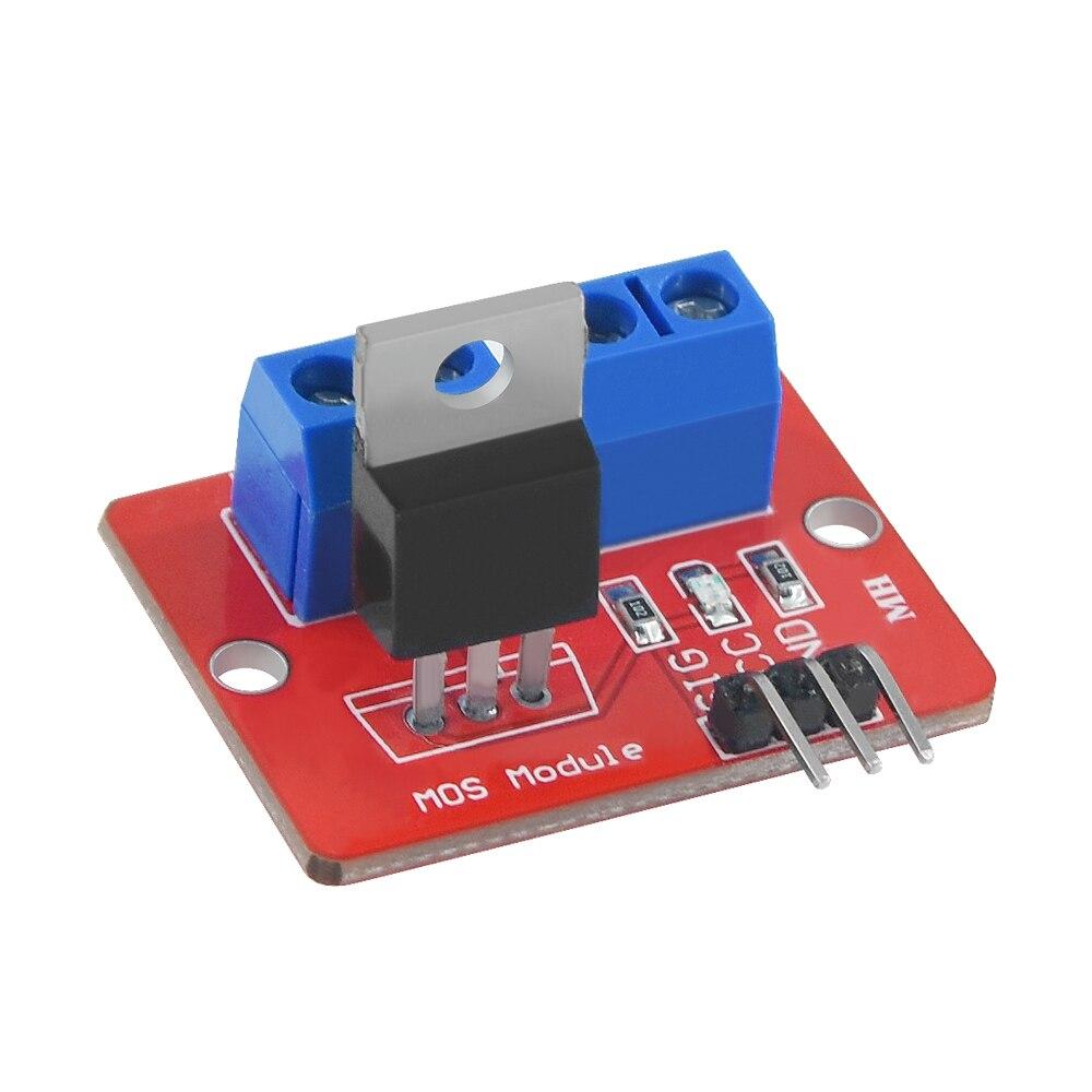 1 pçs irf520n mosfet botão superior irf520 mos driver módulo de potência mos pwm escurecimento led