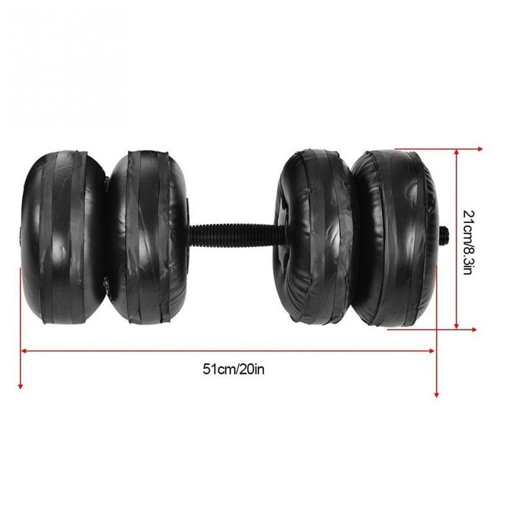 2pcs Water Dumbbell Adjustable 20 25KG Heavey Weight Dumbbell Set Home Fitness Workout Exercise Gym Equipment