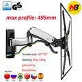 NB F450 aluminium luft drücken Gas frühling dual arm 40 -50 8-16kg volle motion lcd monitor montieren wand stand riser VESA 400X400