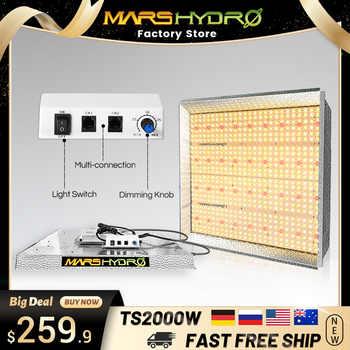 Mars hidro tsw 2000w led crescer espectro completo de luz plantas de interior sistema hidropônico luzes led para crescer luzes painel