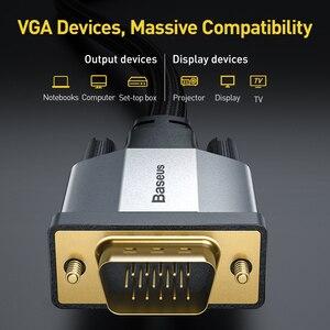 Image 3 - Baseus Cáp HDMI VGA Sang VGA 1080P VGA 15 Pin Dòng Cáp Nối Dài Cáp Âm Thanh Dành Cho Máy Chiếu máy Tính, TV VGA Dây Dây