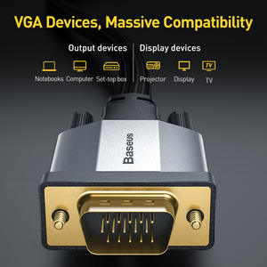 Image 3 - Baseus HDMI Cable VGA to VGA Adapter Cable 1080P VGA 15 Pin Line Extension Cable Audio Cable for Projector PC TV VGA Wire Cord