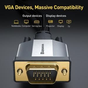 Image 3 - Baseus hdmiケーブルvgaにvgaアダプタケーブル1080 1080p vga 15ピンライン延長ケーブルオーディオケーブルプロジェクターpcのtv vgaワイヤーコード