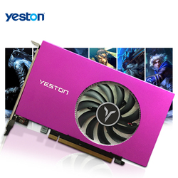 Yeston Radeon RX 550 GPU 4GB GDDR5 128bit Gaming Desktop computer Video Graphics Cards HDMI-compatible X4 use simultaneously PC