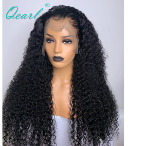"Image 2 - 250% 400% Density Human Hair Wigs For Black Women Malaysian Curly Remy Hair Lace Front Wig Pre plucked 13x4  28"" 30"" 32"" Qearl"